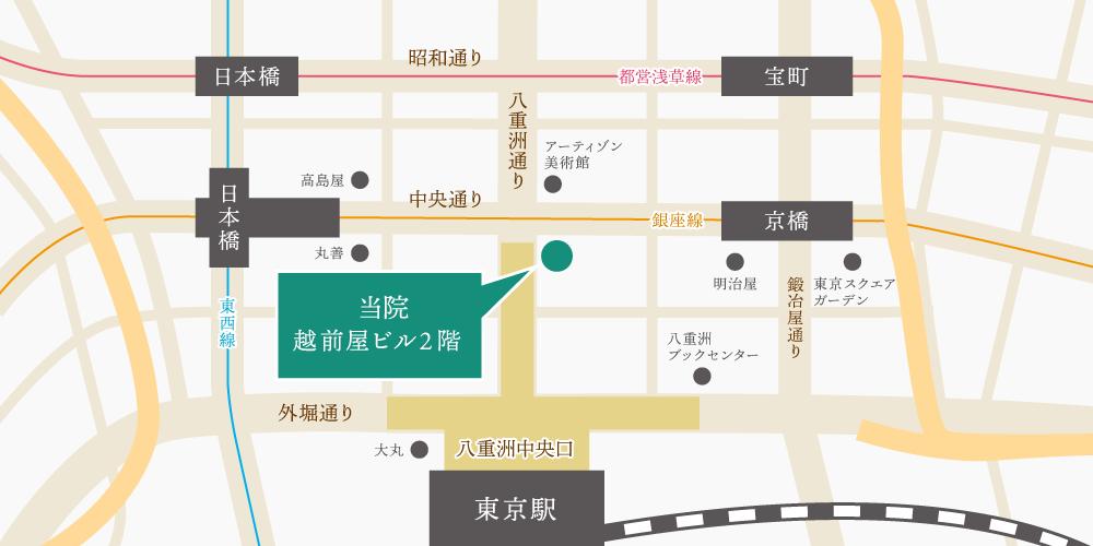 東京八重洲クリニックの近隣マップ